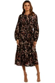 Witchery Tuck Bodice Dress Floral