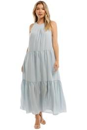 Witchery Yoke Tiered Maxi Dress Arctic Blue