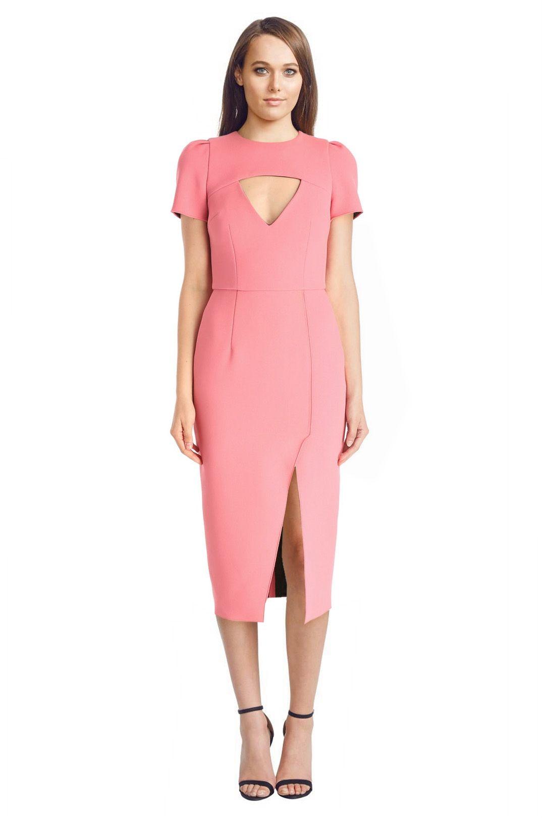 Yeojin Bae - Double Crepe Amelia Dress - Pink - Front