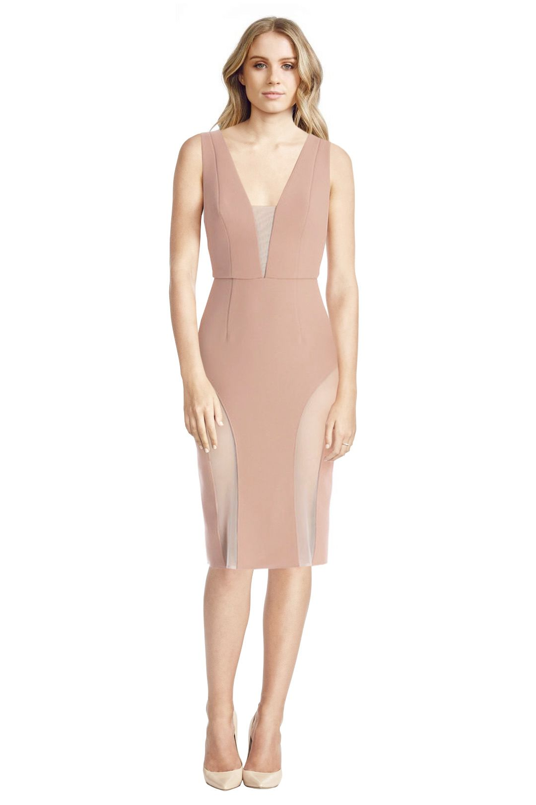 Yeojin Bae - Double Crepe Caterine Dress - Peach - Front