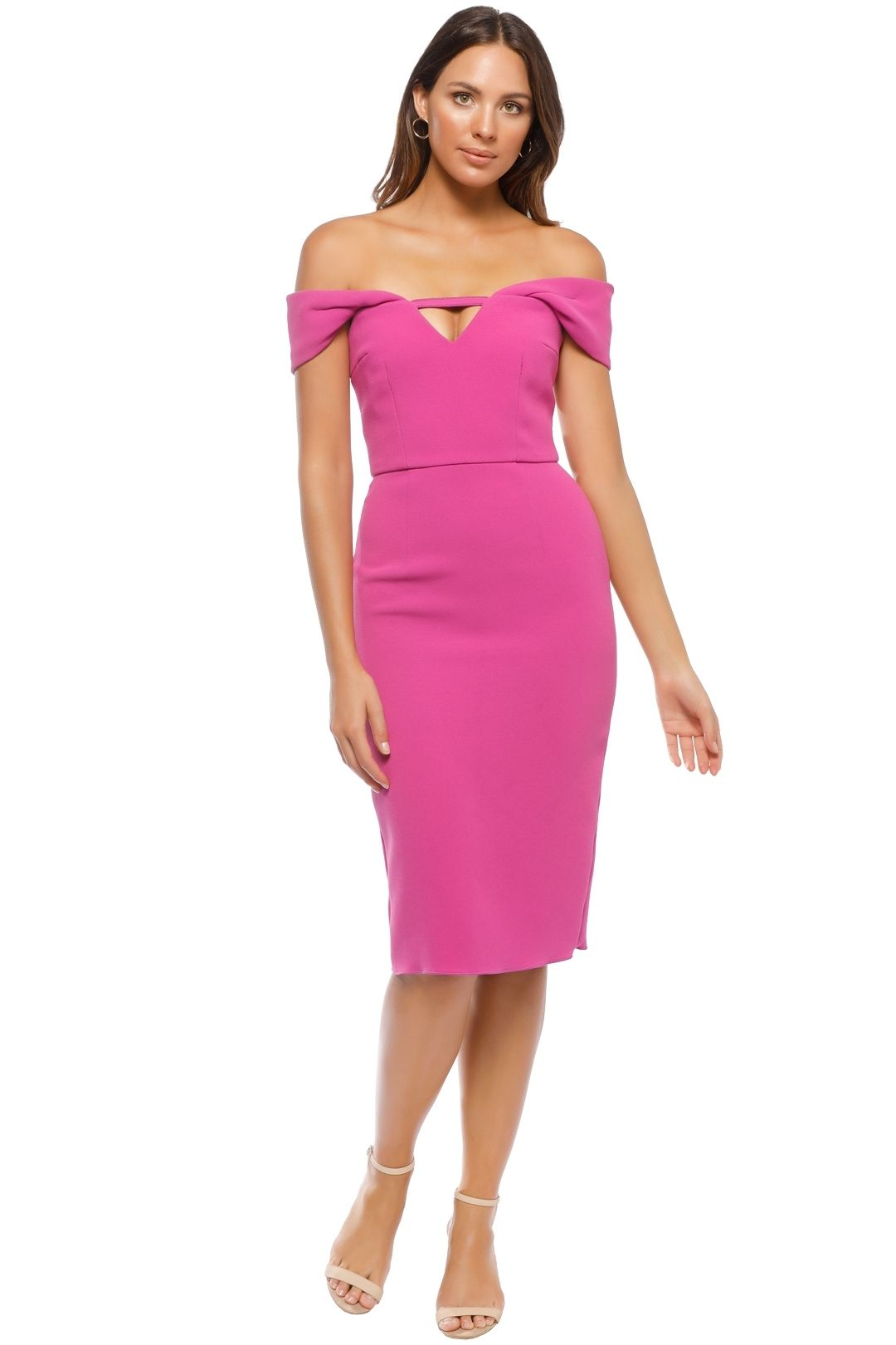 Yeojin Bae - Double Crepe Corrine Dress - Fuchsia - Front