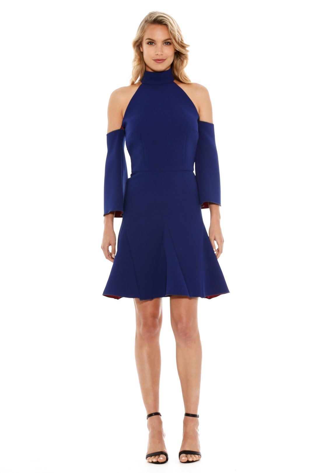 Yeojin Bae - Double Crepe Nadine Godet Dress - Blue - Front