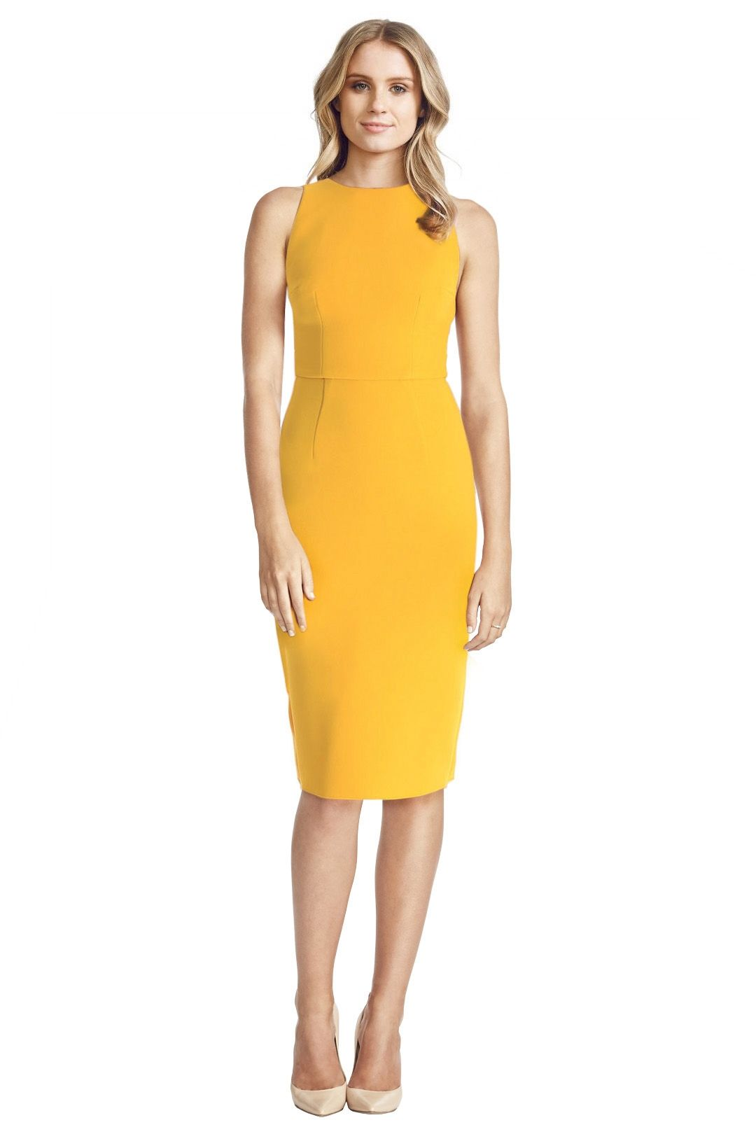 Yeojin Bae - Double Crepe Sophie Dress - Yellow - Front