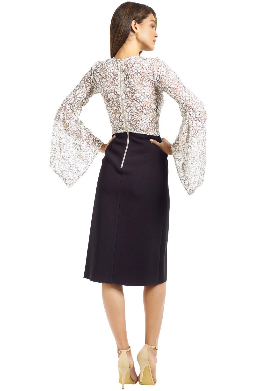 Yeojin Bae - Elise Corded Lace Dress - Black White - Back