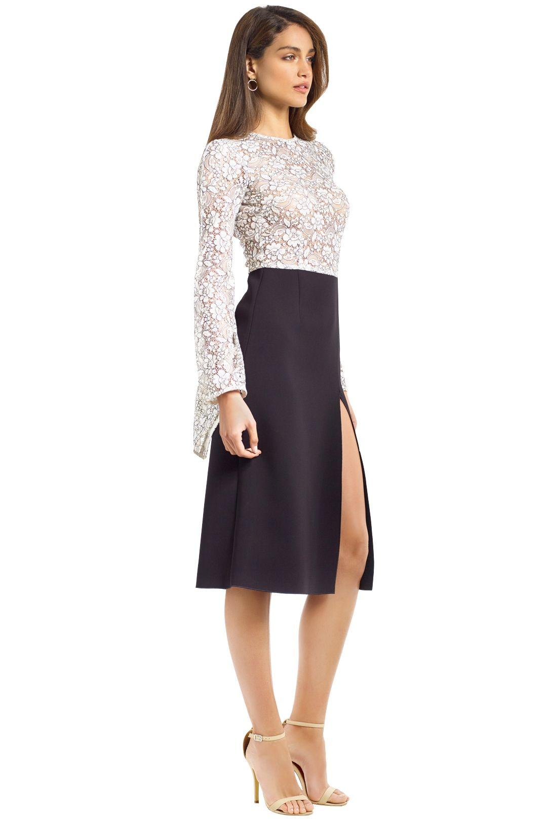 Yeojin Bae - Elise Corded Lace Dress - Black White - Side