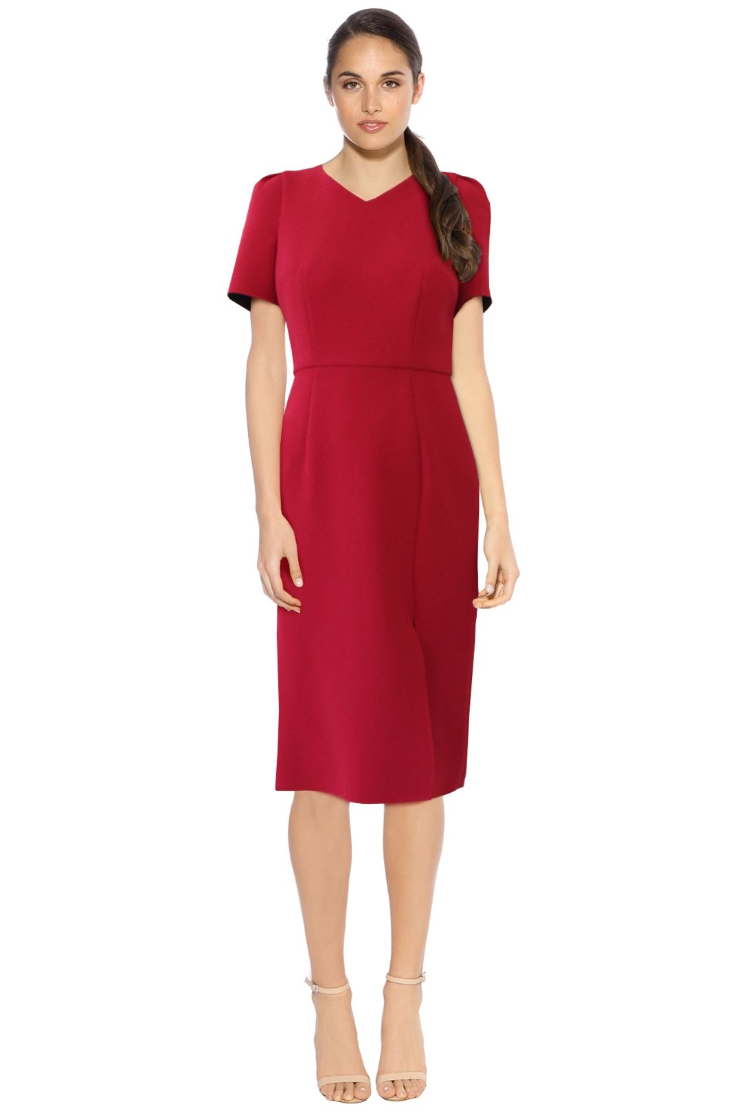 Yeojin Bae - Kristy Dress - Fuschia - Front