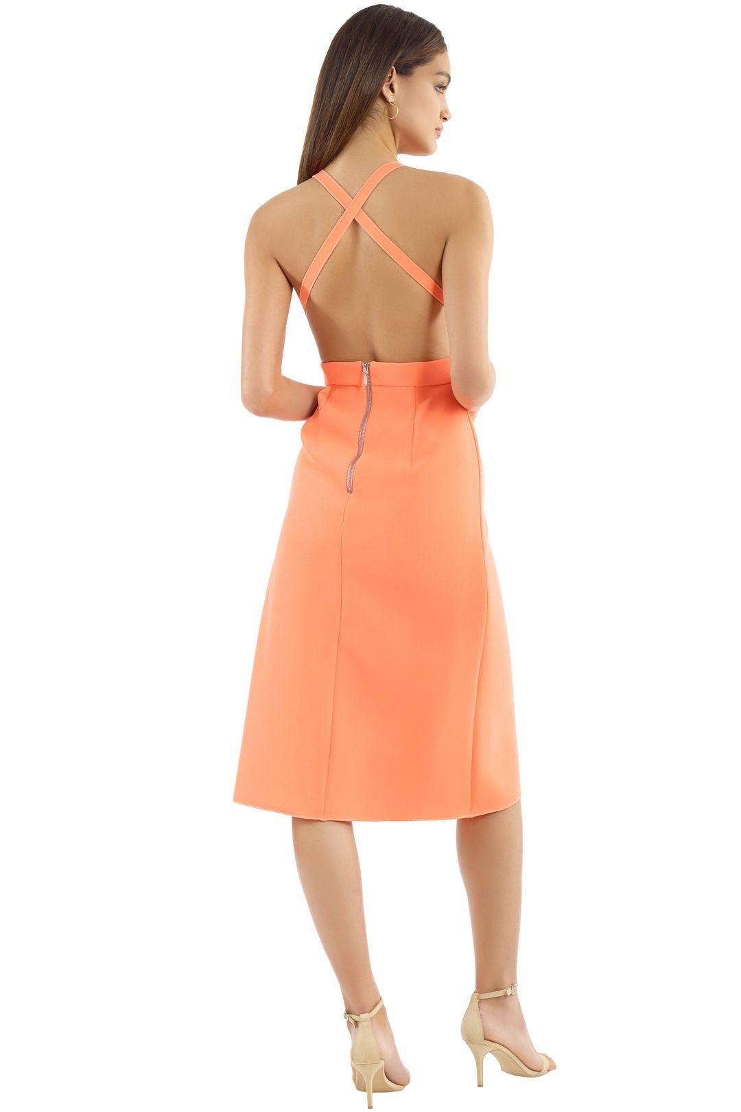 Yeojin Bae - Lilian Dress - Neon Orange - Back