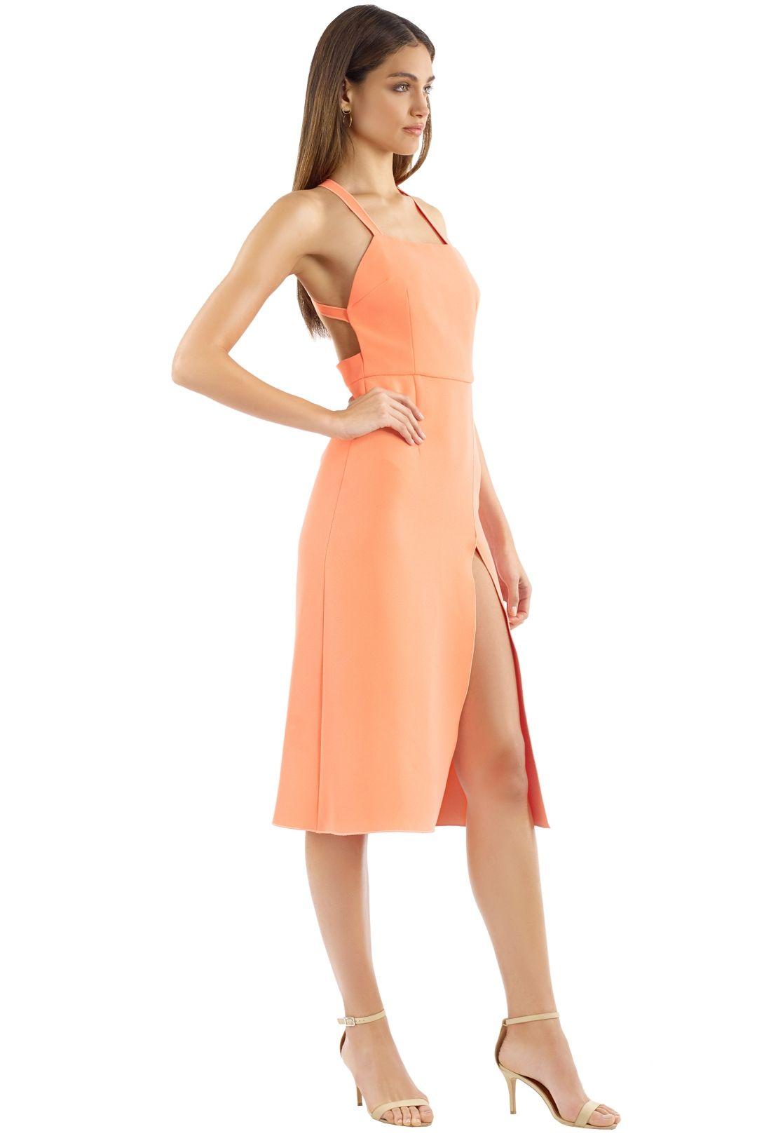 Yeojin Bae - Lilian Dress - Neon Orange - Side