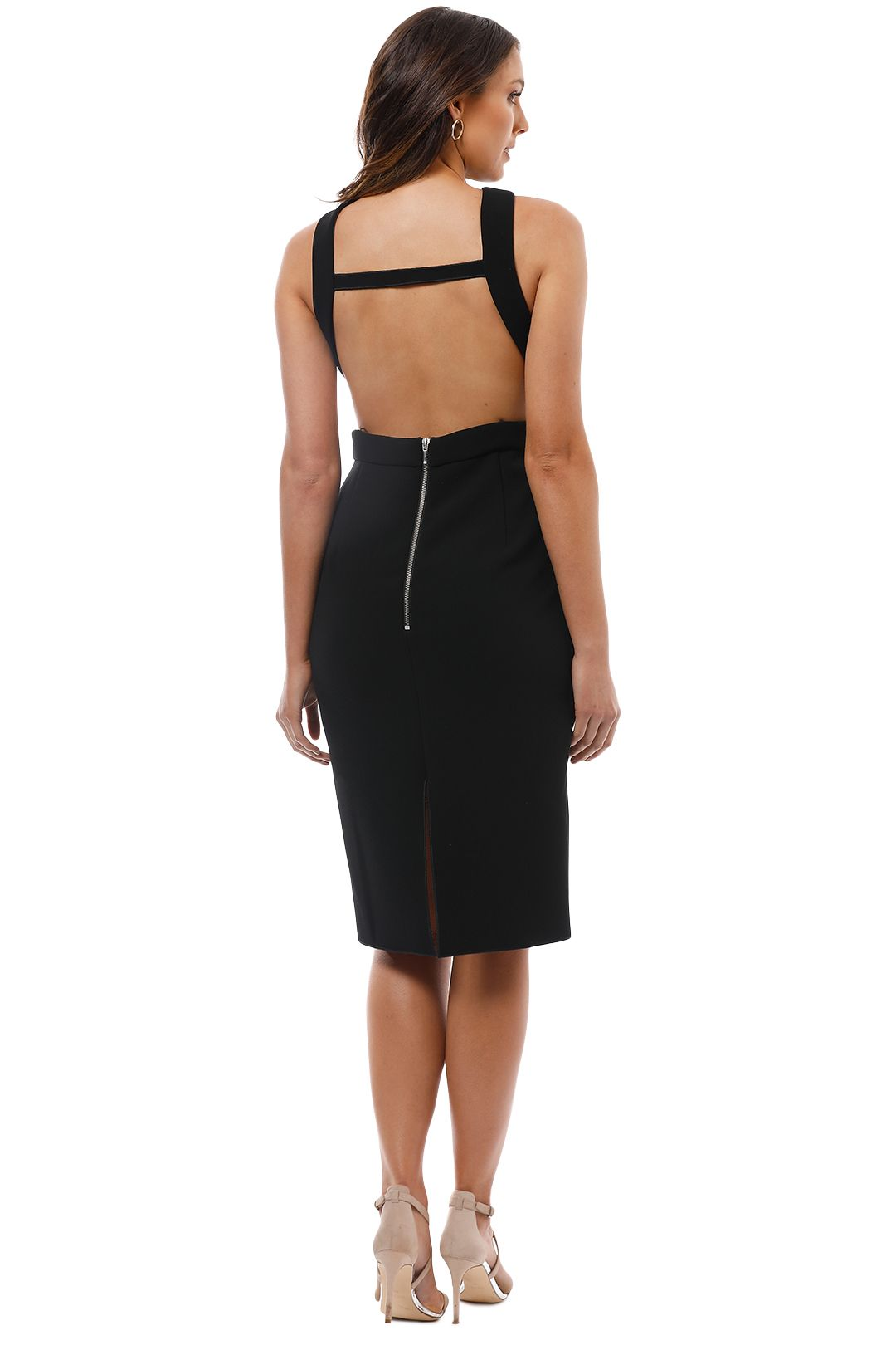 Yeojin Bae - Double Crepe Sophie Dress - Black - Back