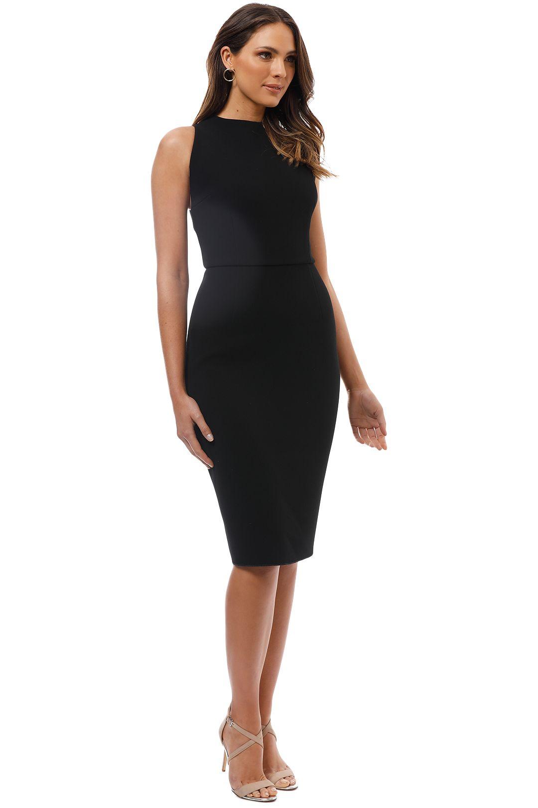 Yeojin Bae - Double Crepe Sophie Dress - Black - Side