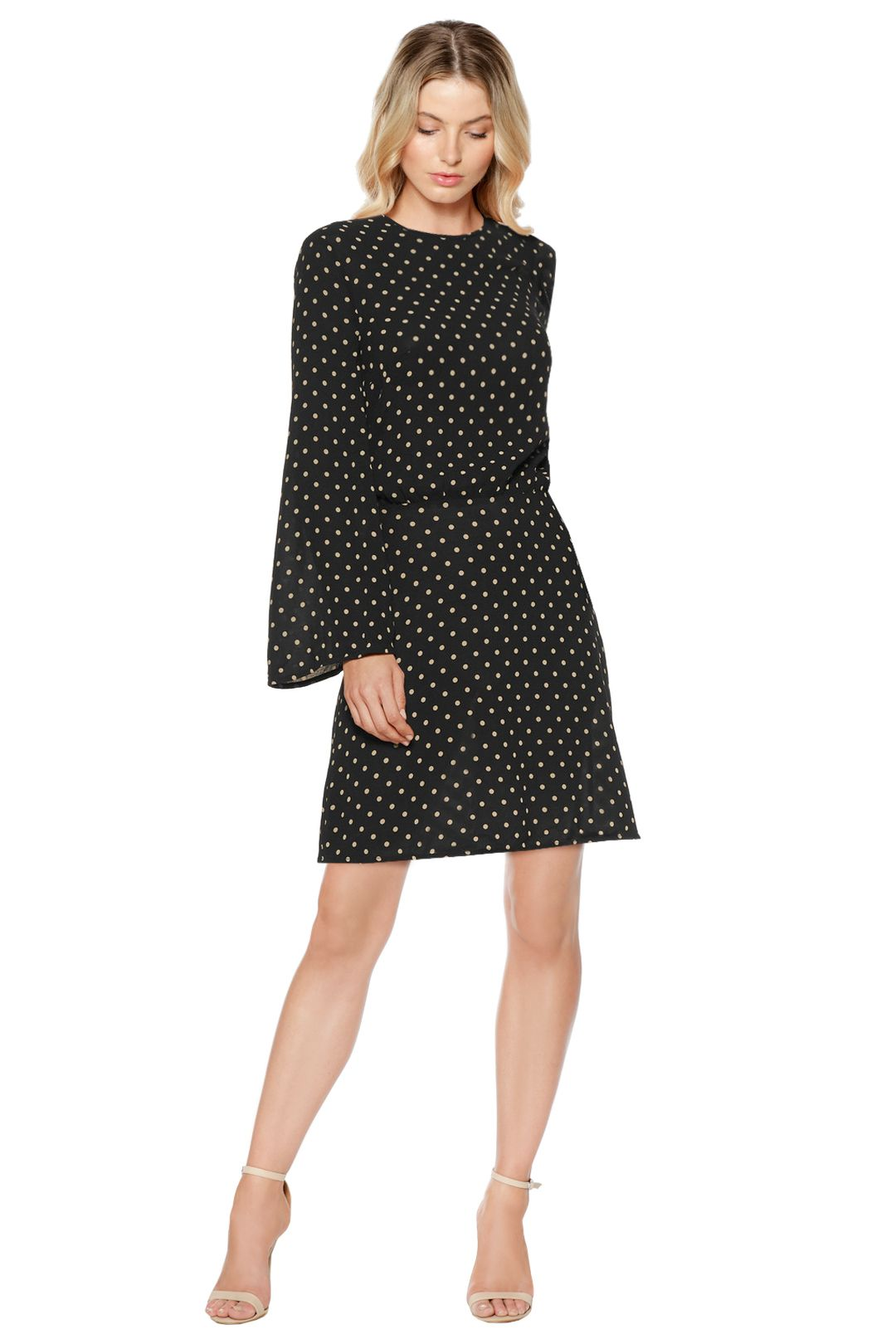 Zimmermann - Mischief Polka Dot Crepe Mini Dress - Front