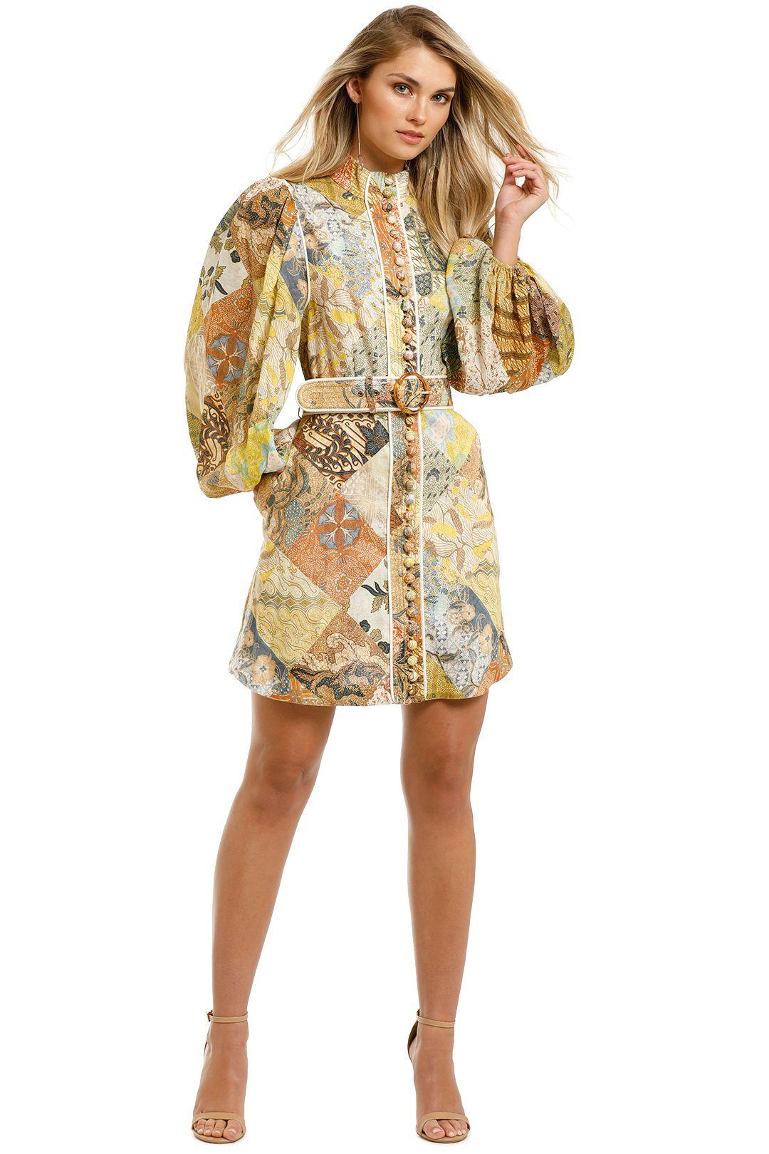 Zimmermann-Brightside-A-Line-Mini-Dress-Batik-Patch-Front
