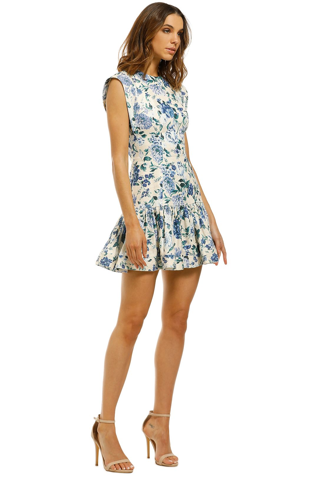 Zimmermann-Moncur-Flounce-Short-Dress-Aquamarine-Floral-Side