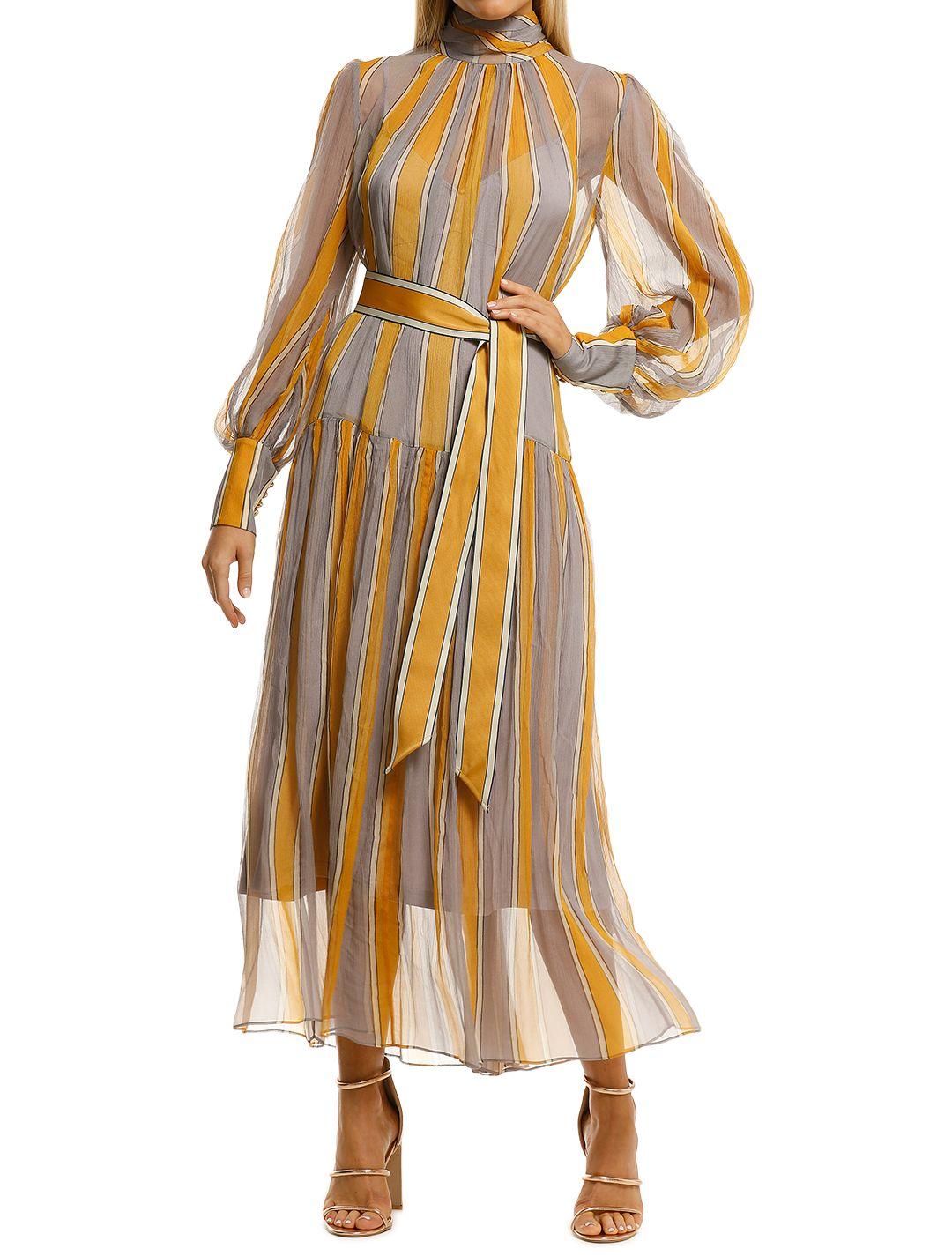 Zimmermann-Sabotage-Roll-Neck-Dress-Violet-Stripe-Front