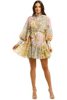 Zimmermann - Super Eight Lantern Mini Dress - Mixed Floral