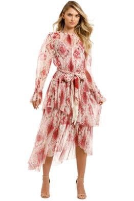 Zimmermann-Wavelength-Asymmetric-Dress-Raspberry-Ikat-Front