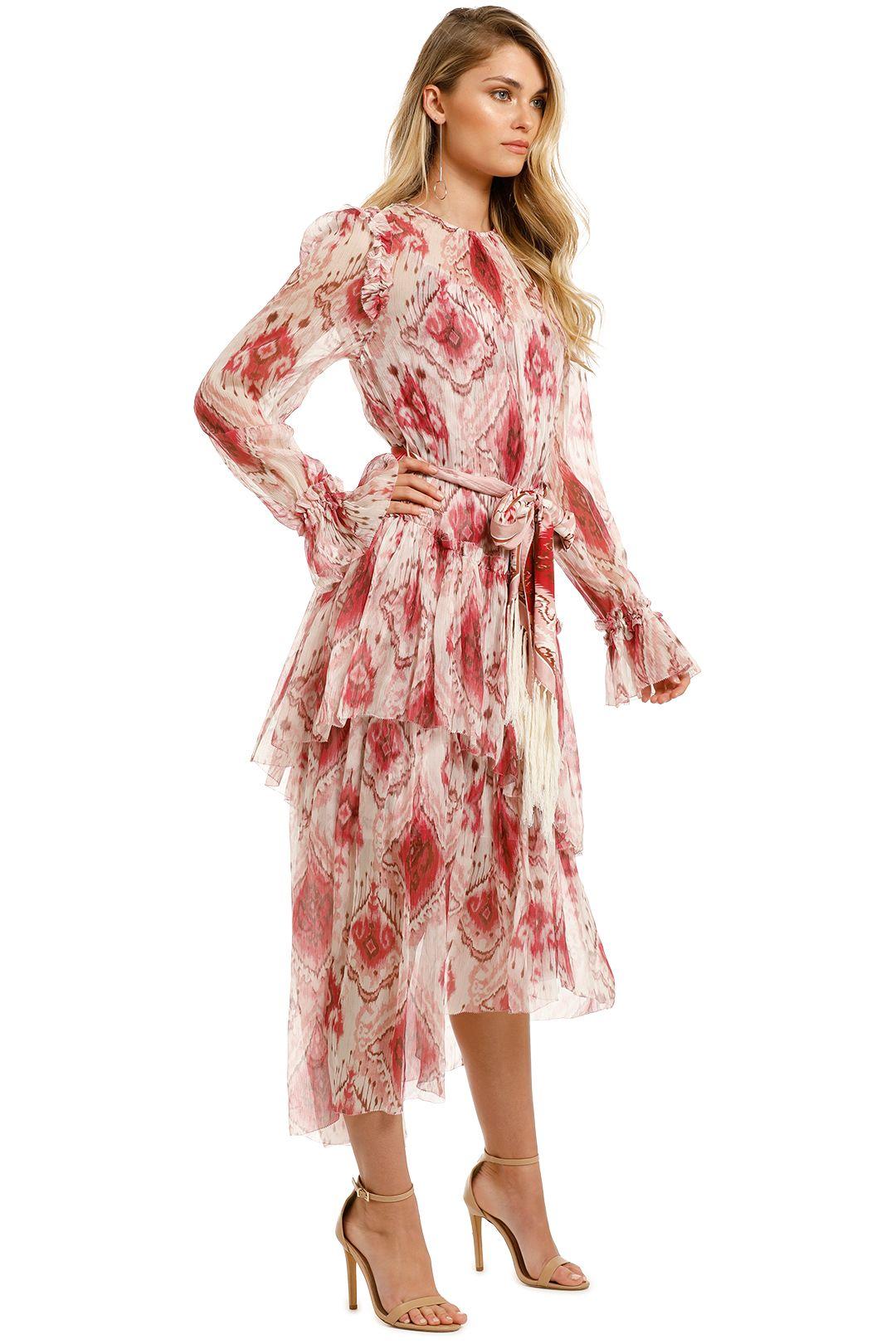 Zimmermann-Wavelength-Asymmetric-Dress-Raspberry-Ikat-Side