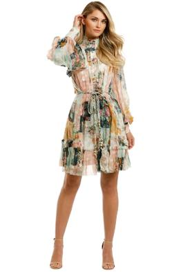 Zimmermann-Wavelength-Smock-Mini-Dress-Patchwork-Flora-Front