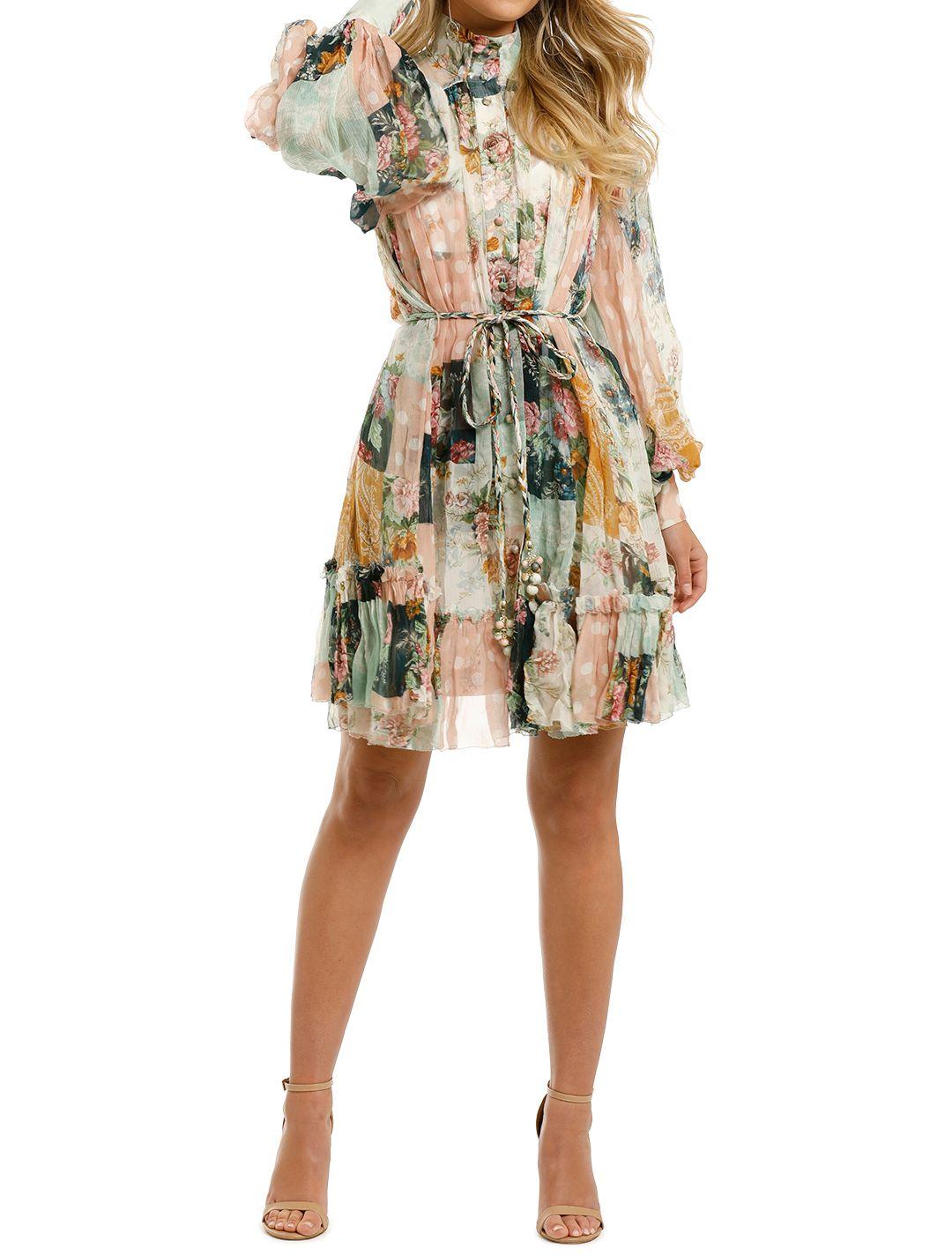 Zimmermann-Wavelength-Smock-Mini-Dress-Patchwork-Flora-Front