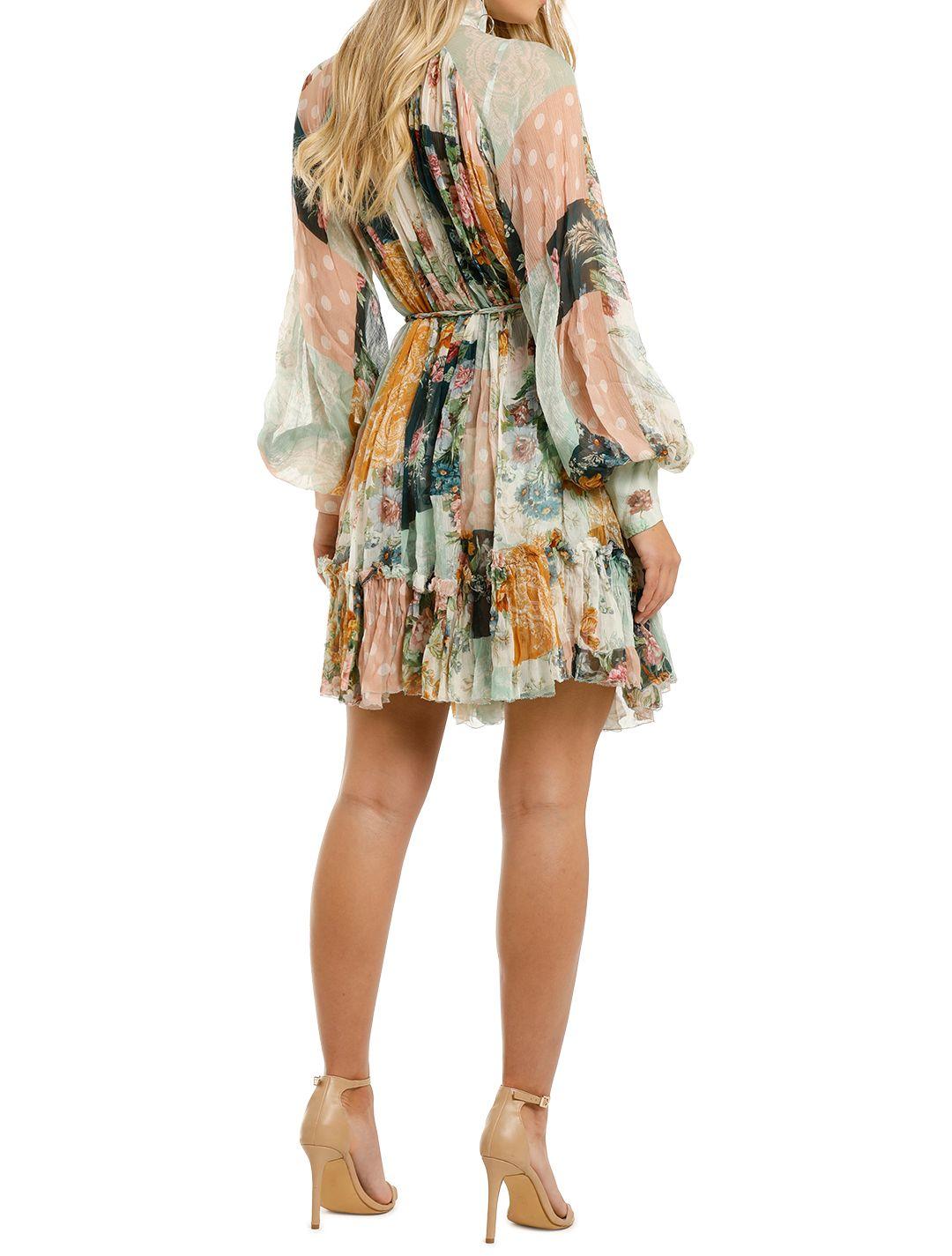 Zimmermann-Wavelength-Smock-Mini-Dress-Patchwork-Flora-Back