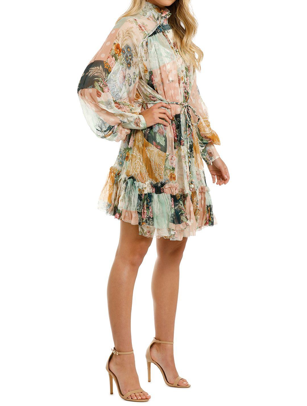 Zimmermann-Wavelength-Smock-Mini-Dress-Patchwork-Flora-Side