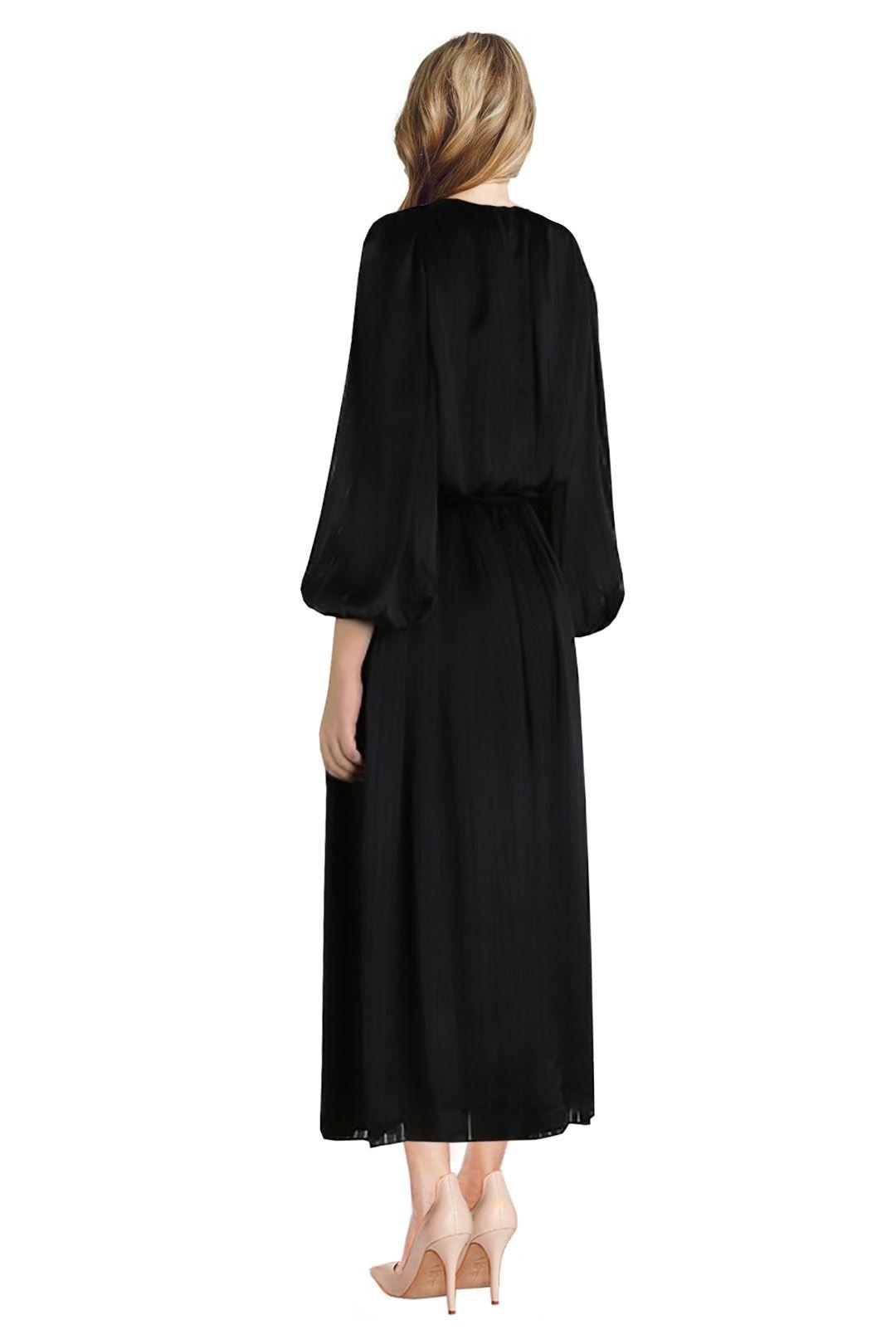 Zimmermann - Arcadia Stripe Slouch Dress - Black - Back
