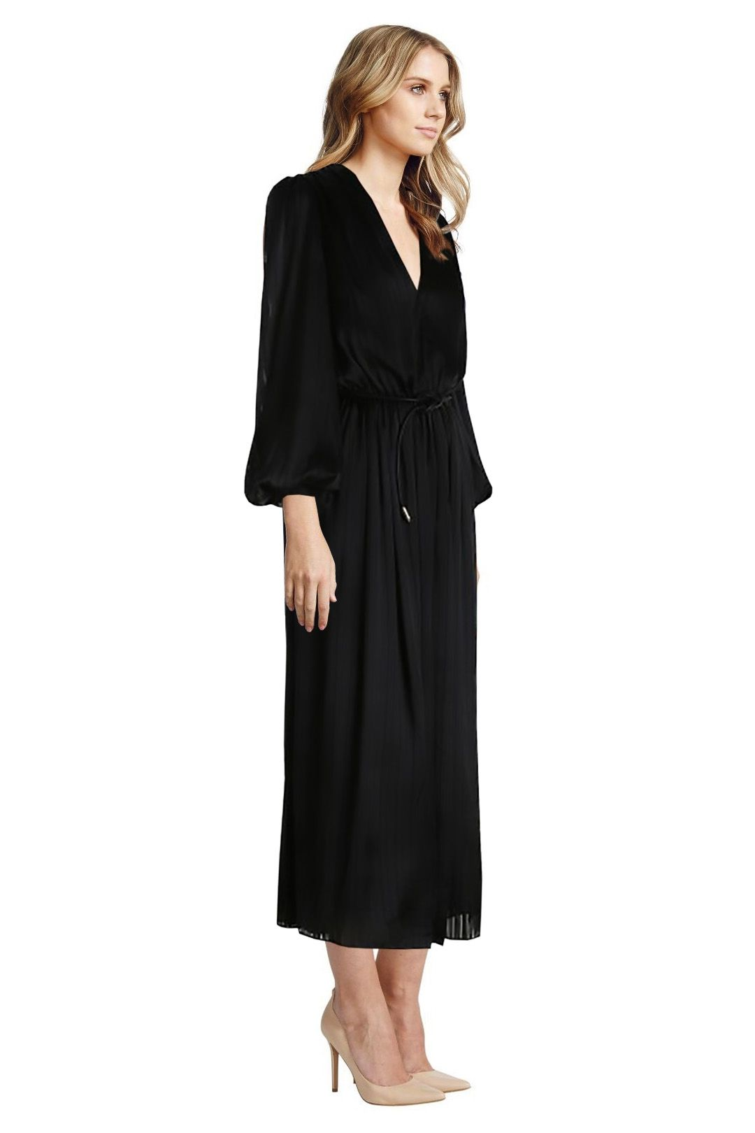 Zimmermann - Arcadia Stripe Slouch Dress - Black - Side