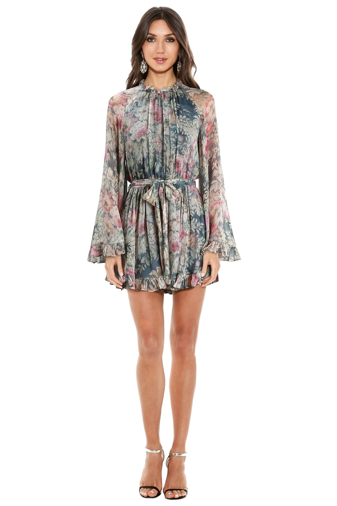 Zimmermann - Cavalier Playsuit - Smoke Floral - Front
