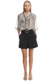 Zimmermann - Corsage Fluted Blouse - Print - Front