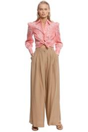Zimmermann - Heathers Bandana Shirt - Pink - Front