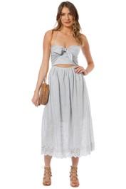 Zimmermann - Iris Picnic Dress - Light Blue - Front