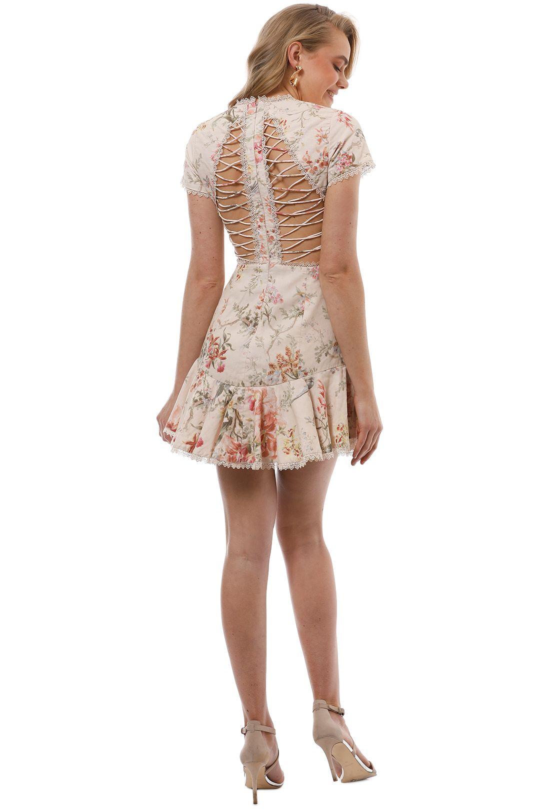 Zimmermann - Mercer Flutter Dress - Cream Floral - Back