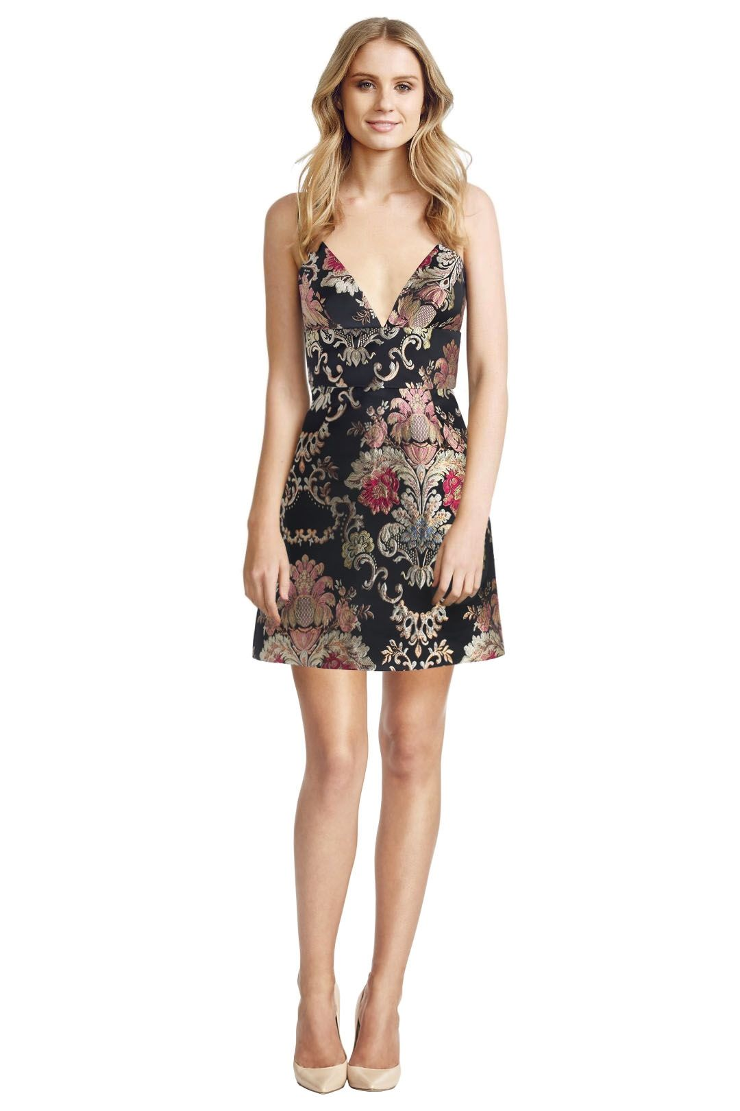 Zimmermann - Mischeif Wallpaper Dress - Black Floral - Front