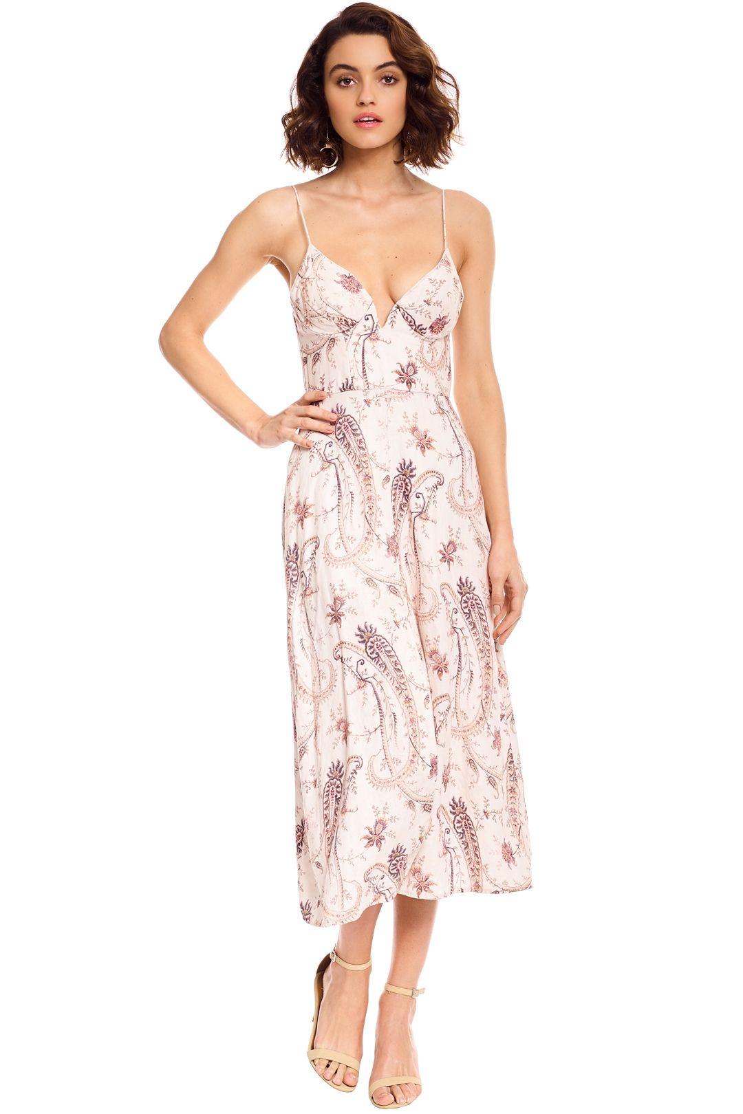 Zimmermann - Mischief Bralette Dress - Ivory Floral - Front