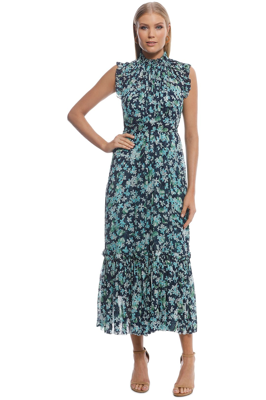 Zimmermann - Moncur Frill Dress - Blue - Front