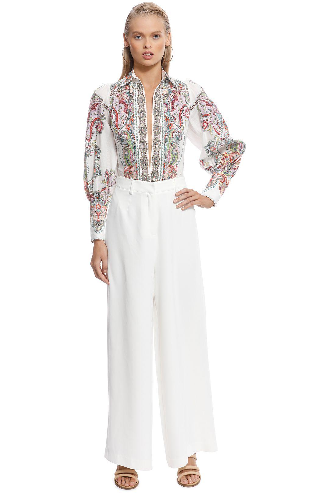 Zimmermann - Ninety-Six Filigree Shirt - White Print - Front