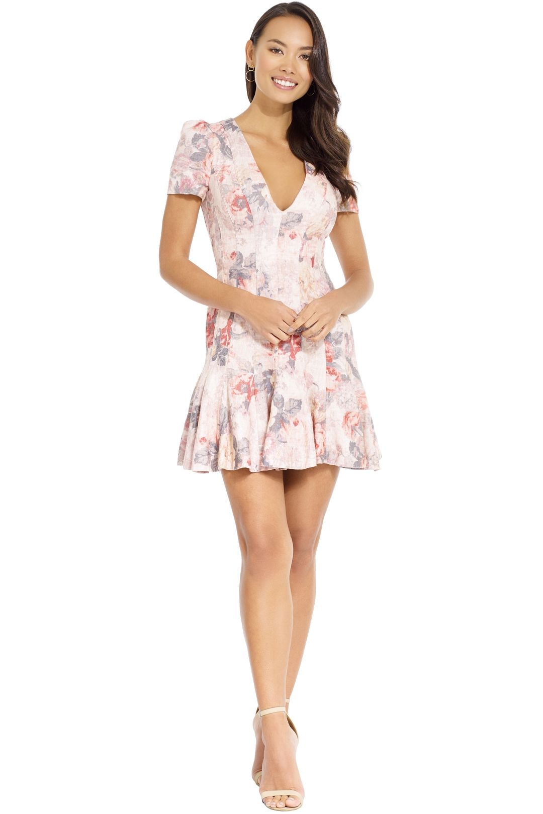 Zimmermann - Radiate Flip Dress - Blush Print - Front