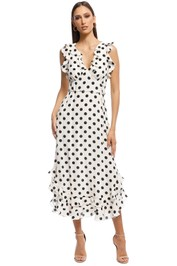 Zimmermann - Ruffle Dress - Black and White - Front