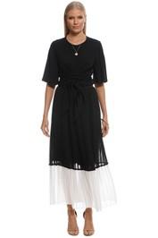 Zimmermann - Splice Pleat Skirt - Black White - Front
