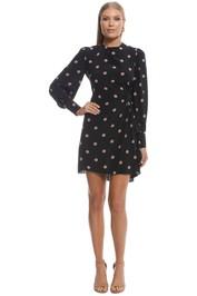Zimmermann - Unbridled Asymmetric Mini Dress - Black Rose - Front