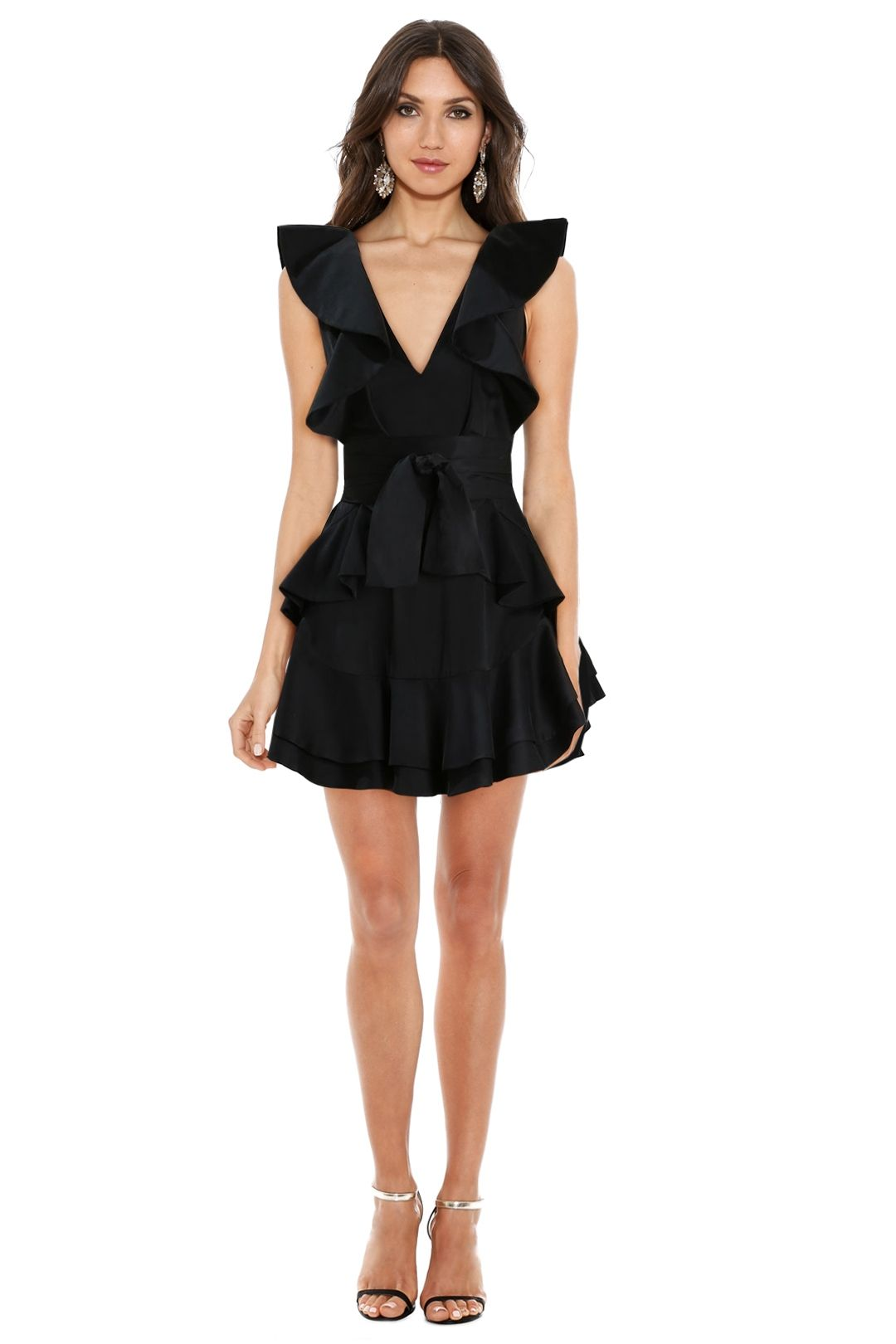 Zimmermann - Winsome Flounce Dress - Black - Front