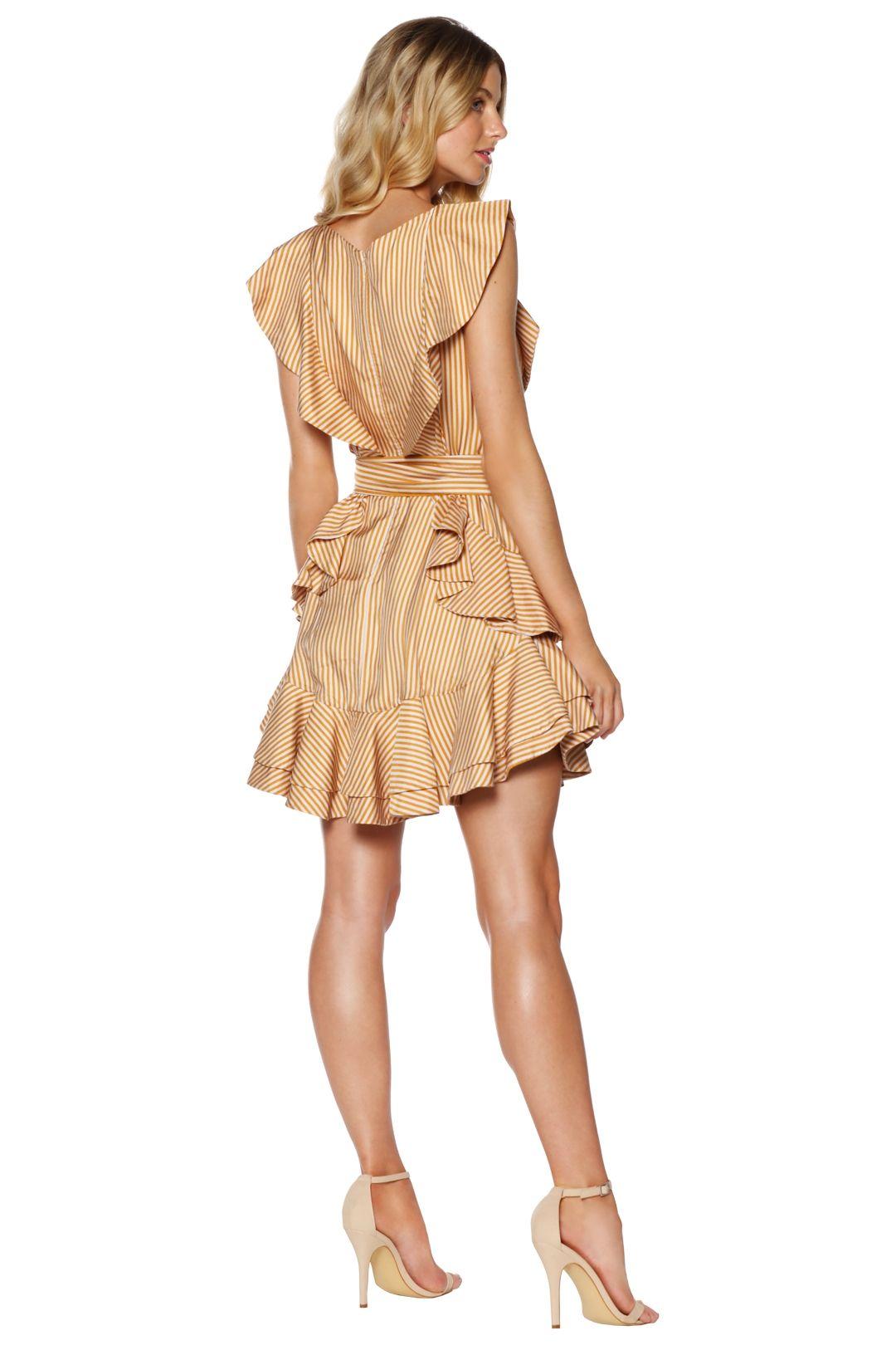 Zimmermann - Winsome Flounce Dress - Gold - Back