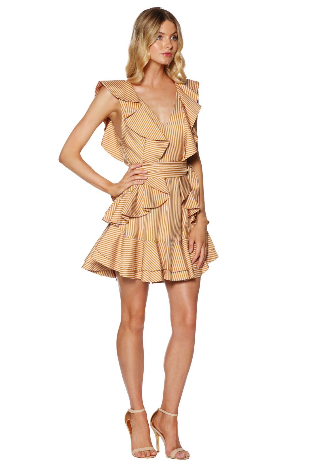 Zimmermann - Winsome Flounce Dress - Gold - Side