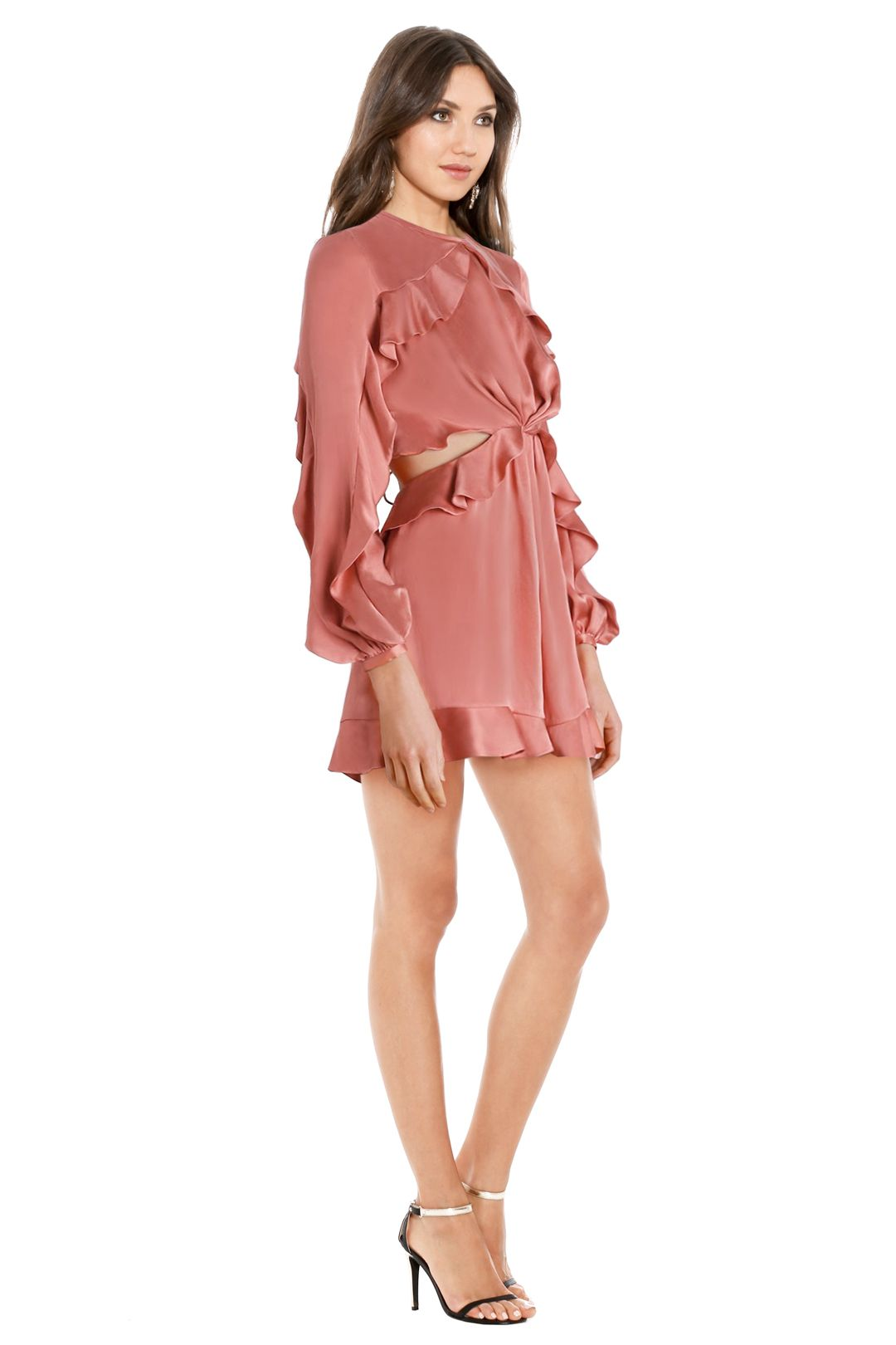Zimmermann - Winsome Flutter Playsuit - Guava Pink - Side