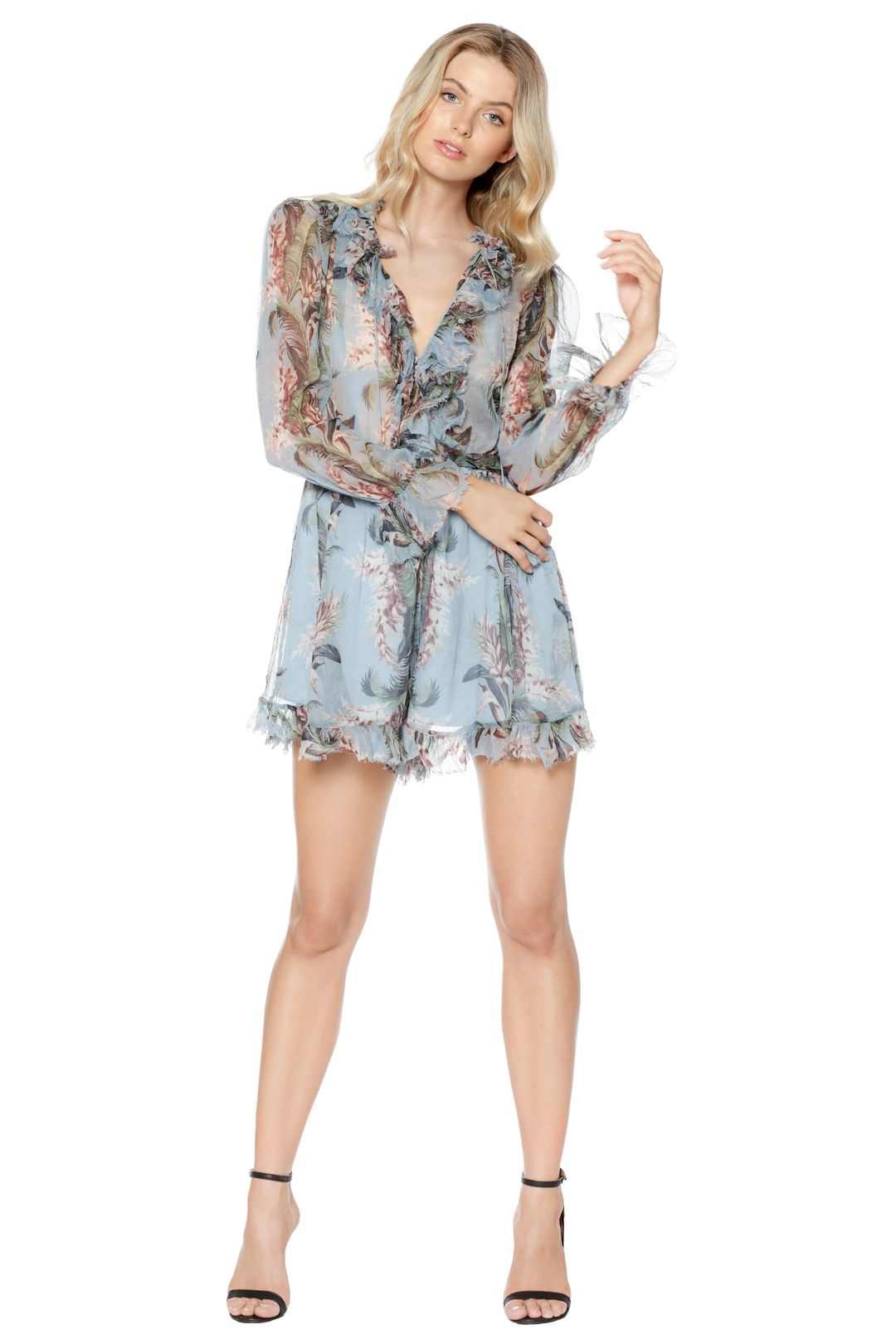 Zimmermann - Winsome Ruffle Playsuit - Front