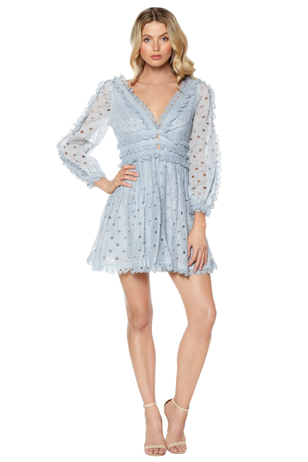 Zimmermann - Winsome Tea Dress - Blue - Front