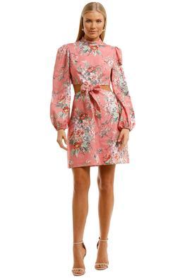 Zimmermann Bellitude Bow Front Dress Pink Mini