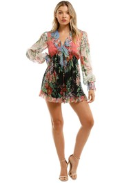 Zimmermann Bellitude Flutter Playsuit Floral Long Sleeve