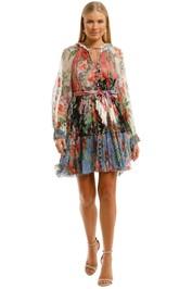 Zimmermann Bellitude Spliced Short Dress Mini Floral