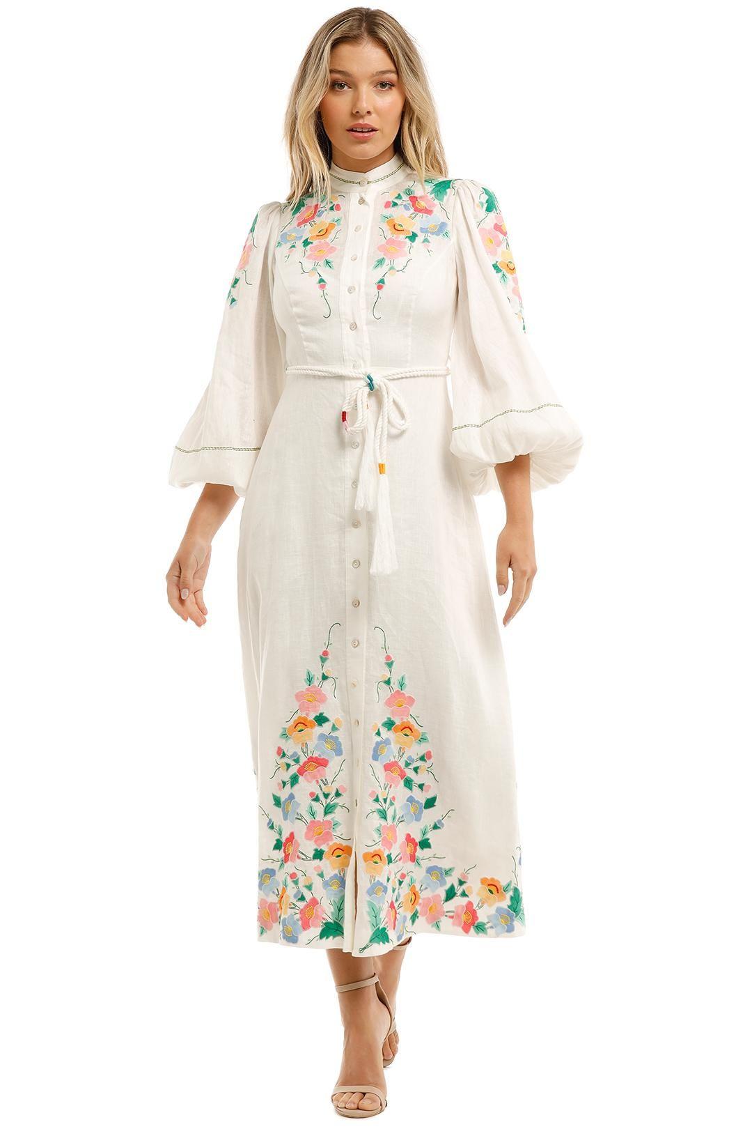 Zimmermann Fiesta Applique Long Dress Floral